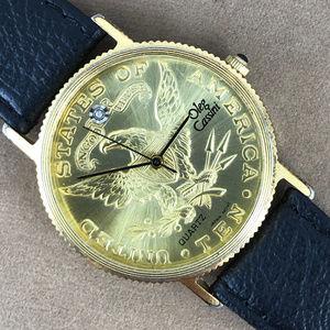 Vintage Man's Oleg Cassini $10 Cion Eagle Watch